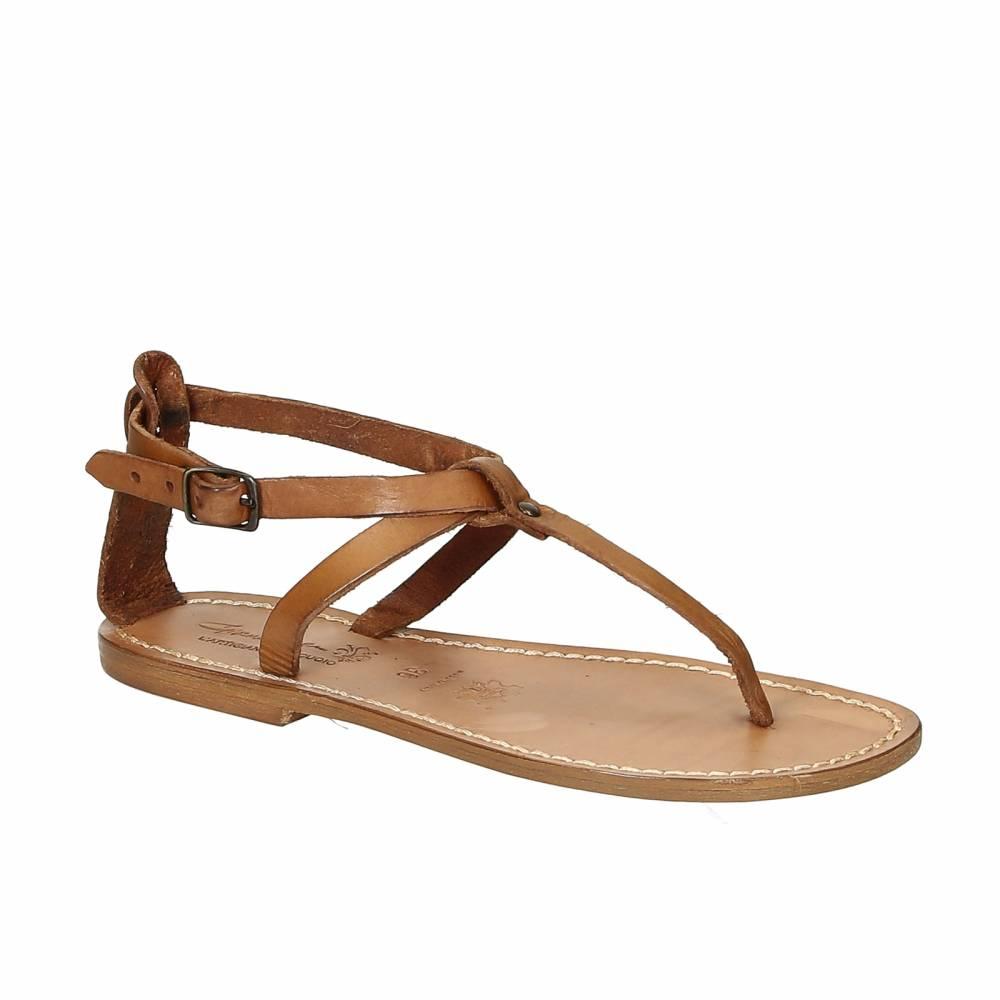 sandalias planas mujer cuero