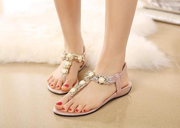 sandalias planas mujer verano, elegantes, sandalias planas mujer rosa