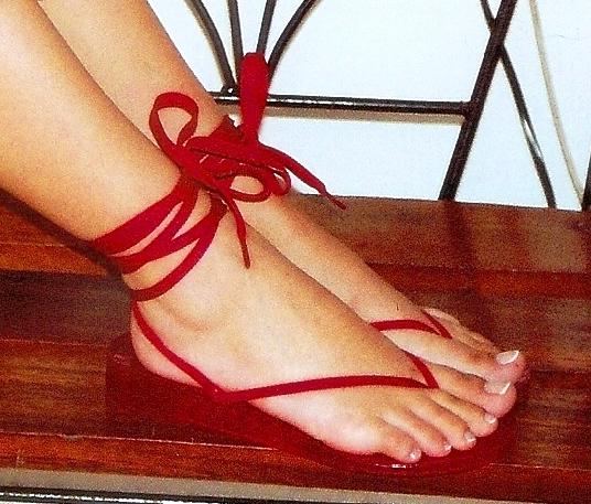 sandalias planas, sandalias comodas, sandalias rojas