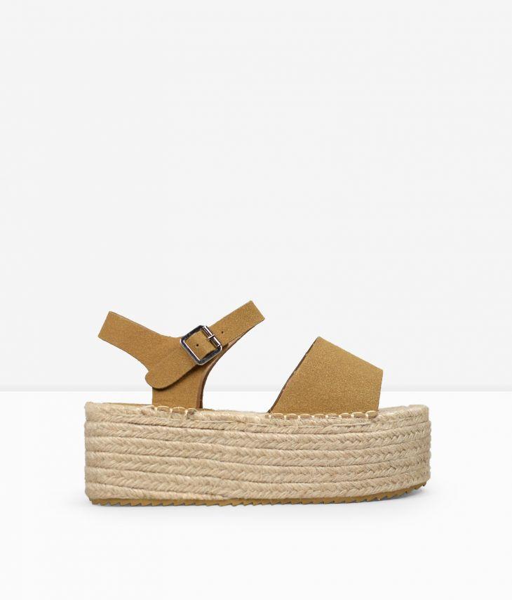 sandalias de plataforma mujer, sandalias de plataforma de esparto, sandalias de plataforma suela de esparto
